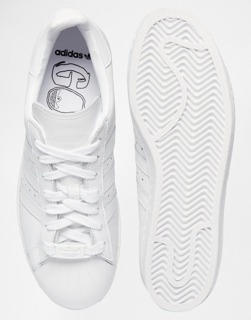 Adidas Originals Superstar 80s Tous Over Blanche Couleur claire  - Adidas Originals Superstar 80s Tous Over Blanche Couleur claire-01-3