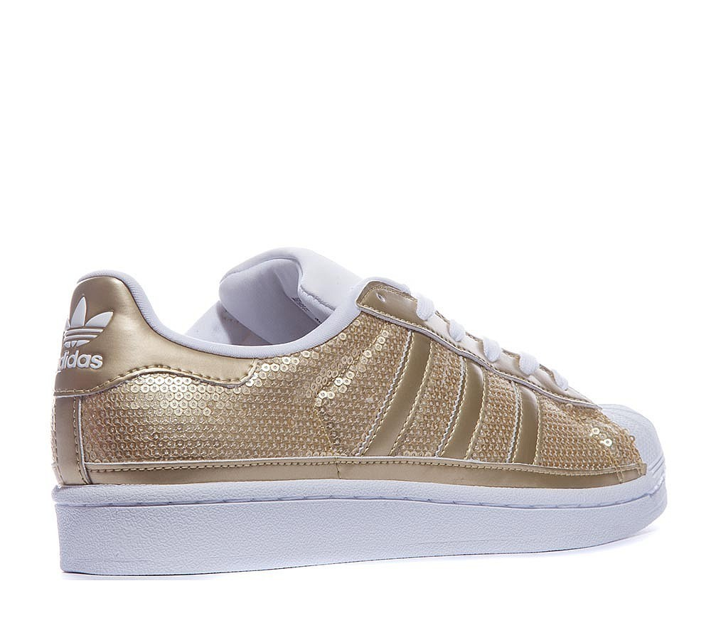 Adidas Originals Superstar Sequin Baskets Metallic Or/Blanche à Prix Distinctifs  - Adidas Originals Superstar Sequin Baskets Metallic Or/Blanche à Prix Distinctifs-01-3