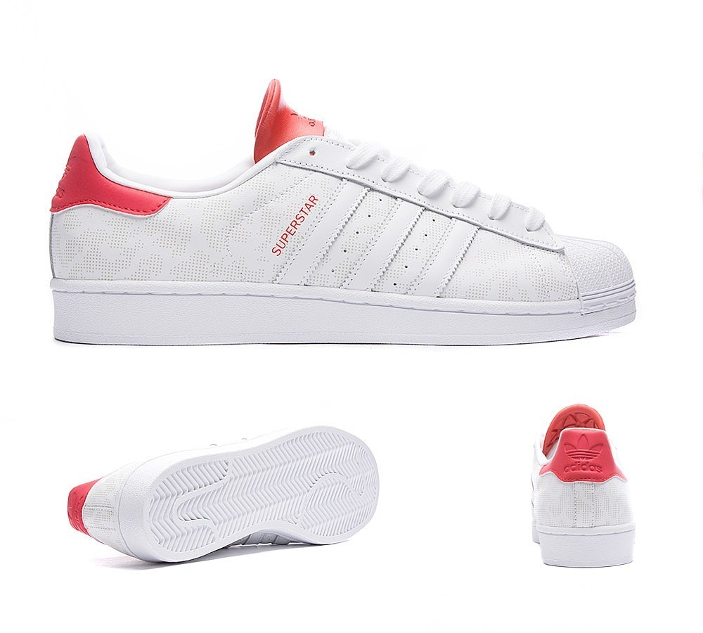 Adidas Originals Superstar Camo 15 Baskets Blanche/Rouge à Prix Avantageux - Adidas Originals Superstar Camo 15 Baskets Blanche/Rouge à Prix Avantageux-01-1