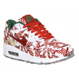 Nike Air Max 90 Femme University Rouge Metallic Or Qs Remise En Ligne