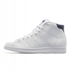 Adidas Originals Stan Smith Mid Blanche/Marine Remise En Ligne