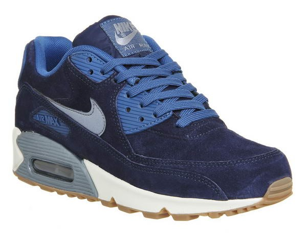 Nike Air Max 90 Femme Midnight Marine Metallic Bleu Dusk Couleur claire - Nike Air Max 90 Femme Midnight Marine Metallic Bleu Dusk Couleur claire-01-0