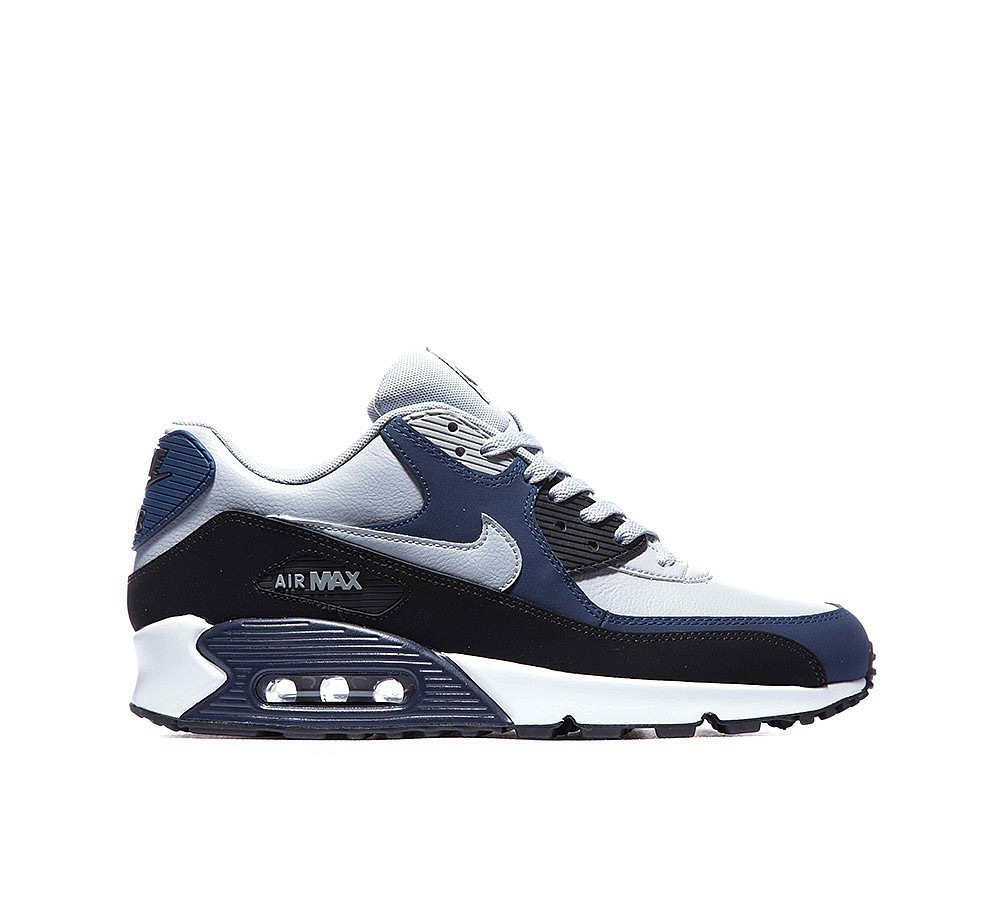 Nike Air Max 90 Cuir Homme Wolf Grise/Midnight Marine/Noir à Prix Accessible  - Nike Air Max 90 Cuir Homme Wolf Grise/Midnight Marine/Noir à Prix Accessible-01-0