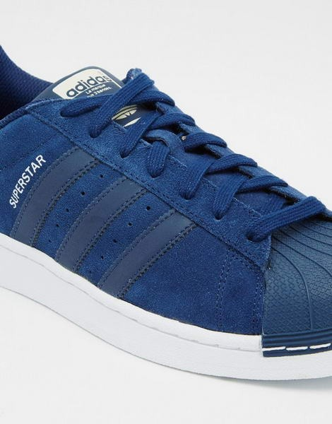 Adidas Originals Superstar In Bleu Cuir s79473 couleurs vives - Adidas Originals Superstar In Bleu Cuir s79473 couleurs vives-01-2