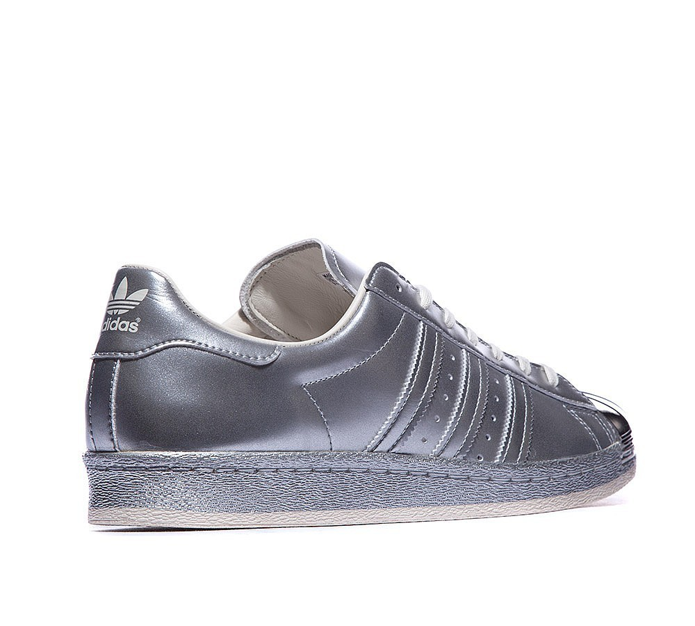 Adidas Originals Superstar 80s Metallic Baskets Argent Conception exceptionnelle - Adidas Originals Superstar 80s Metallic Baskets Argent Conception exceptionnelle-01-3