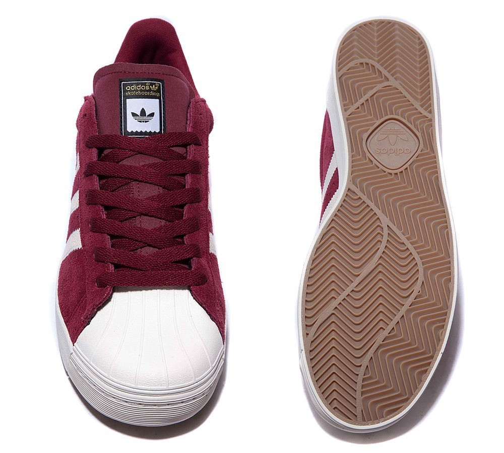 Adidas Originals Superstar Vulcanised Adv Baskets Bordeaux/Blanche à Prix Malin - Adidas Originals Superstar Vulcanised Adv Baskets Bordeaux/Blanche à Prix Malin-01-2