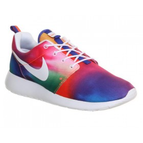 Nike Roshe One Court Pourpre Blanche Imprime Unisexe Couleurs incroyables