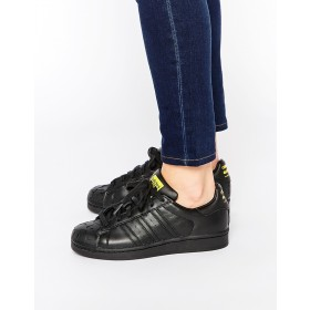 Adidas Originals Pharrell Williams x Todd James Noir Cuir Supershell Superstar Large Choix