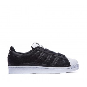 Adidas Originals Superstar Sequin Baskets Carbon Noir/Flat Blanche Modèle attrayant